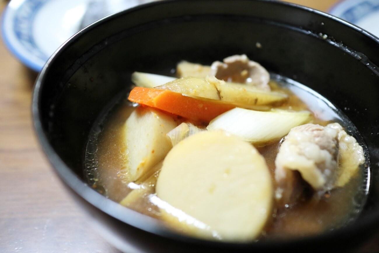 乾姜入りラム肉の豚汁風